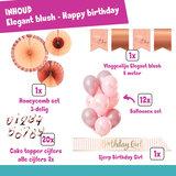 Happy Birthday feestpakket Elegant blush