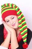 Slaapmuts rood-geel-groen