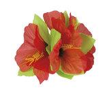 Hawaii haarclip met decoratiebloem assorti kleuren_