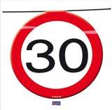 Slinger verkeersbord '30'  ca. 12 mtr OP=OP_