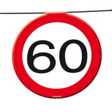 Slinger verkeersbord '60'  ca. 12 mtr_