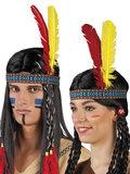 Indianen haardband met veer