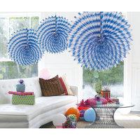 Honeycomb Waaier oktoberfest blauw-wit 45 cm