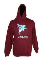 Airborne Sweater maroon rood met Pegasus