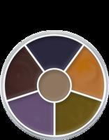 Kryolan cream color circle 6 kleuren: bruise , blauwe plekken / blauw oog