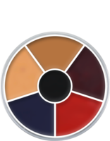 Kryolan cream color circle 6 kleuren: verbrande huid