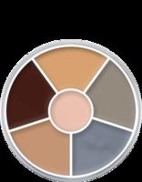 Kryolan cream color circle 6 kleuren: lijk / corpse