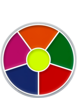 Kryolan cream color circle 6 kleuren: UV-dayglow