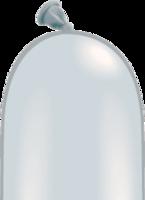 Qualatex modelleer ballonnen zilver 50 stuks 260Q