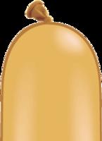 Qualatex modelleer ballonnen goud 50 stuks 260Q