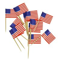 Cocktailprikkers Amerika vlaggen 50 stuks
