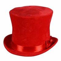 Hoge hoed 'Flair' rood
