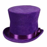 Hoge hoed 'Flair' paars