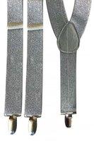 Bretels lurex zilver