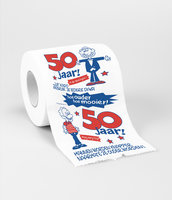 Toiletpapier rol met opdruk 50 man