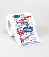 Toiletpapier rol met opdruk Abraham