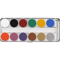 Kryolan supra color (vet)schminkpalet SN 12 basis kleuren.
