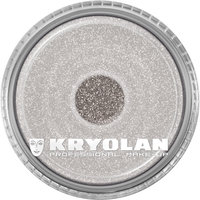 Kryolan polyester glitter 4 gram zilver