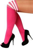 Sokken roze-wit gestreept