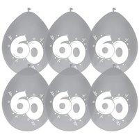 ballonnen 60 diamant 6 stuks