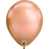 Chrome ballonnen Roségoud 27,5 cm