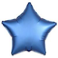 Folieballon Azuurblauw ster 43 cm