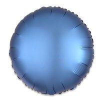 Folieballon Azuurblauw rond 43 cm