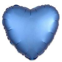 Folieballon Azuurblauw hart 43 cm