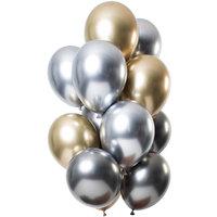 Ballonnen set Mirror Onyx 12 stuks