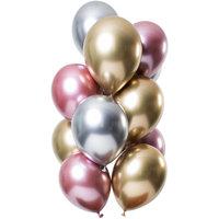 Ballonnen set Mirror Morganite 12 stuks