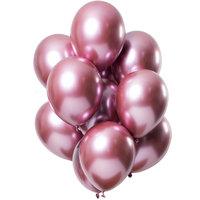 Ballonnen set Mirror Pink 12 stuks