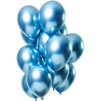 Ballonnen set Mirror Blue 12 stuks