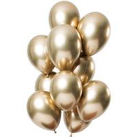 Ballonnen set Mirror Gold 12 stuks