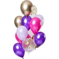Ballonnen set Purple Posh 12 stuks