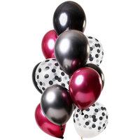 Ballonnen set Dark Richness 12 stuks