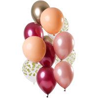 Ballonnen set Rich Ruby 12 stuks