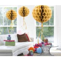 Honeycomb Ball goud 30 cm