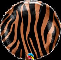 Folieballon Tijger rond 45 cm