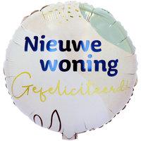 Folieballon Nieuwe woning 45 cm
