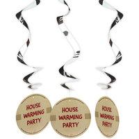 Housewarming Party hangdecoratie 3 stuks