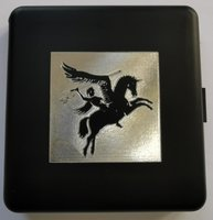 Airborne sigaretten box zwart met Pegasus logo