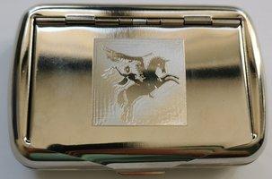 Airborne Tabaks doosje metaal met Pegasus logo