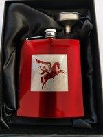 Airborne Veldfles rood in geschenkdoos
