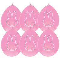 Ballonnen Nijntje roze meisje 6 stuks