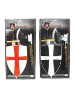Ridderset 3-delig: bijl, schild en zwaard