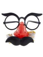 Bril met neus, snor en roltongen