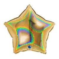 Folieballon ster goud glitter 46 cm
