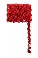 Paillettenband golvend rood 3 meter