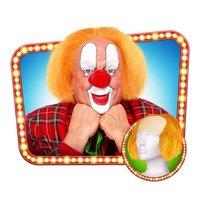 Clownspruik kaalkop 'Bassie' met oranje haar