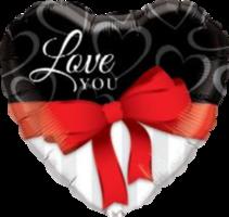 Folieballon hart 'Love you'